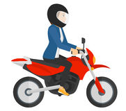 Woman riding motorcycle Stock Photos
