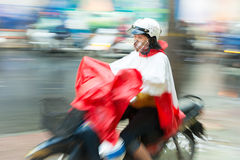 Woman riding scooter in Vietnam, Asia. Stock Photography