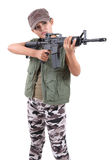 Woman and rifle Stock Image