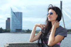 Woman in riga Stock Photography