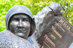 Woman right to vote monument Stock Images