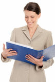 Woman with ring binder Stock Photography