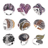 Woman ring set Stock Images