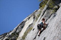 Woman rock climber Royalty Free Stock Photos