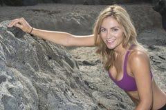 Woman Rock Climber Royalty Free Stock Photo