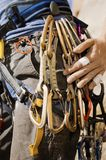 Woman With Rock Climbing Gear Royalty Free Stock Images