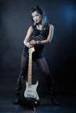 Woman rock star Royalty Free Stock Images