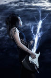 Woman rock star Stock Photos