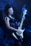 Woman rock star stock image