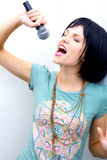 Woman Rocking Out Royalty Free Stock Photo