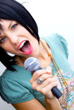 Woman Rocking Out Stock Photography