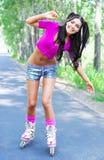 Woman on roller skates Royalty Free Stock Photo