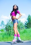 Woman on roller skates Stock Photography