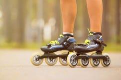 Woman on roller skates Royalty Free Stock Photos