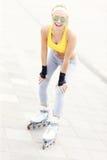 Woman roller skating Royalty Free Stock Image