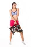Woman With Rollerblade Royalty Free Stock Image