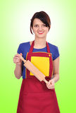Woman with  rolling pin Stock Photography