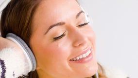 Woman In Romantic Mood Listen Music stock video footage