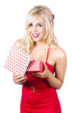 Woman with romantic presents Stock Images