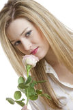 Woman with a rose Royalty Free Stock Image