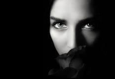 Woman with rose Stock Photos