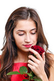 Woman with rose Stock Photos