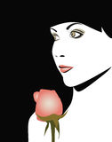 Woman with a rose. Royalty Free Stock Images