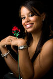 Woman with a rose Royalty Free Stock Photos
