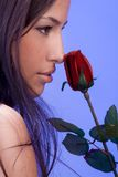 Woman and rose Stock Photo