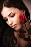 Woman and rose Royalty Free Stock Photography