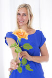 Woman with a rose Royalty Free Stock Photography