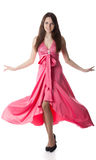 Woman in rose dress Royalty Free Stock Photo
