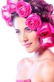 Woman rose Royalty Free Stock Image