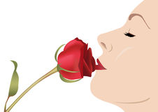 Woman with rose vector Stock Images