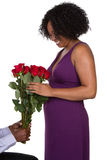 Woman With Roses Royalty Free Stock Images
