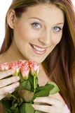Woman with roses Royalty Free Stock Photography