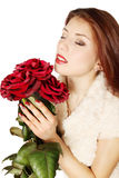 Woman with a roses Stock Image