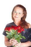 Woman with roses Stock Images