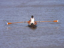 Woman rowing Stock Photography