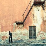Woman on ruins Royalty Free Stock Images