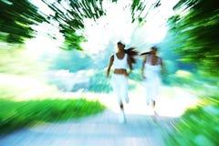 Woman run Stock Image