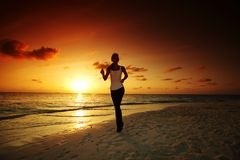 Woman run Royalty Free Stock Photo
