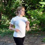 Woman on a run in nature Royalty Free Stock Photography