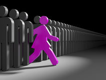 Woman run to success Royalty Free Stock Photo