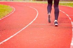 Woman run training outdoors. Royalty Free Stock Photos