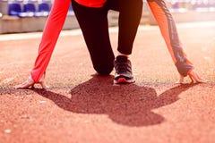 Woman run training outdoors. Royalty Free Stock Photo