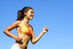 Woman runner Royalty Free Stock Photos