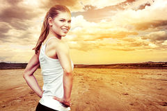 Woman runner Stock Images