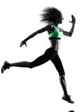 Woman runner jogger running jogging silhouette Stock Image