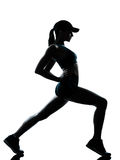 Woman runner jogger stretching warm up Stock Image